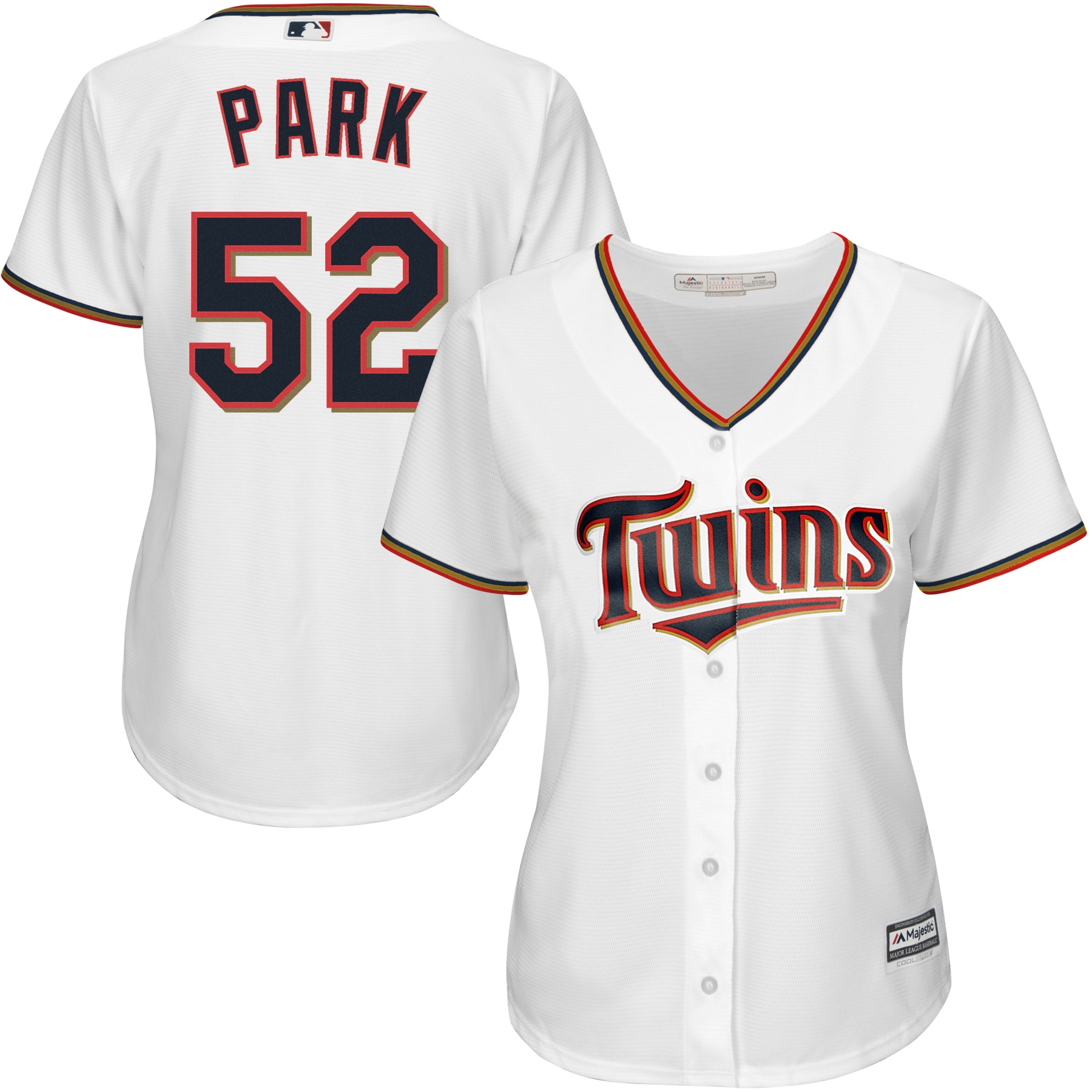 Byung-ho Park Minnesota Twins Majestic Women's Home Cool Base Player Jersey - White