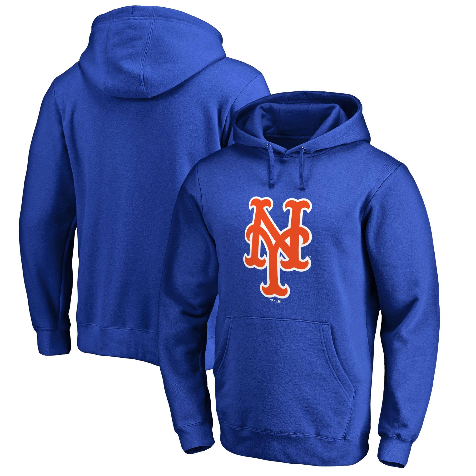 New York Mets Fanatics Branded Primary Logo Pullover Hoodie - Royal