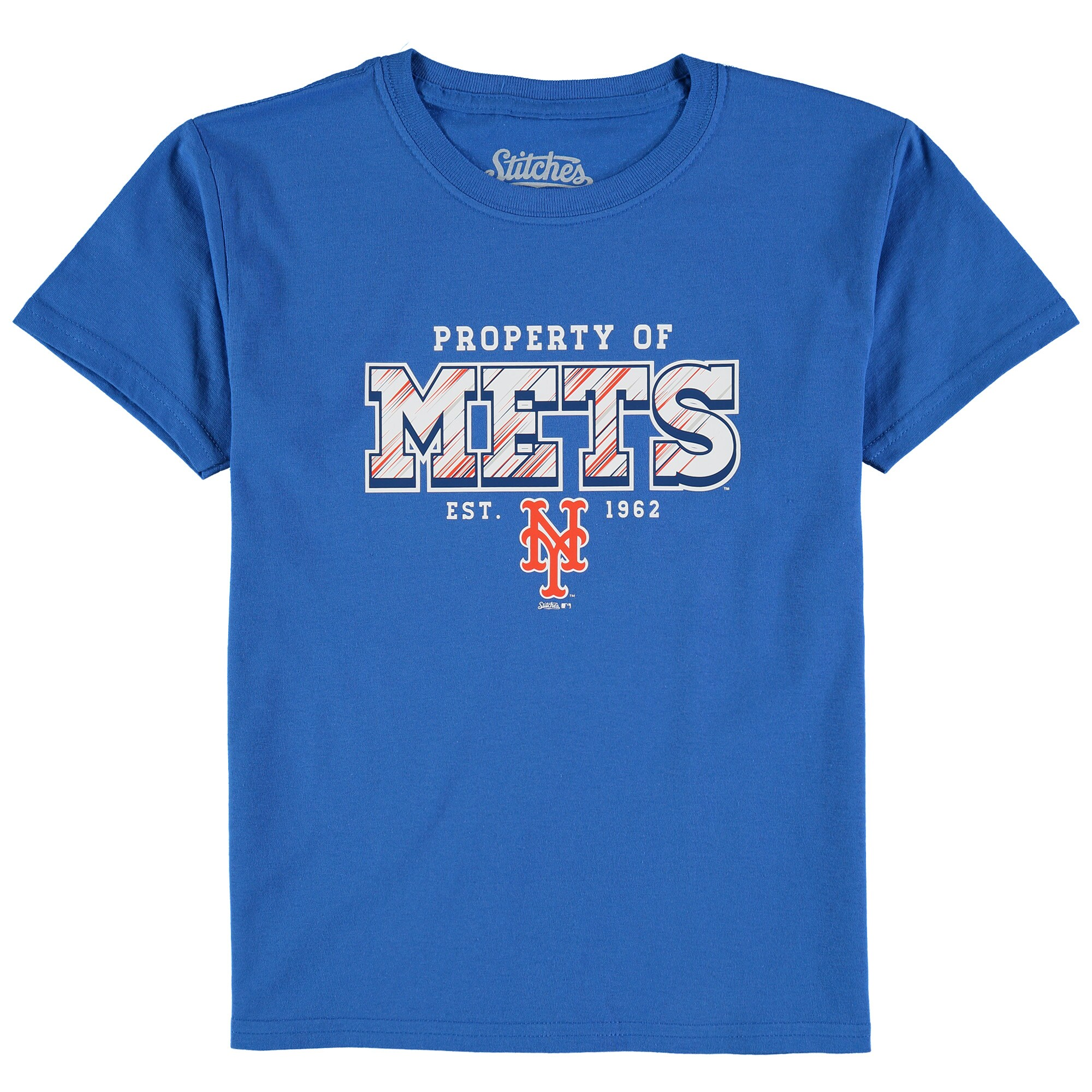 New York Mets Stitches Youth Property Of Team T-Shirt - Royal
