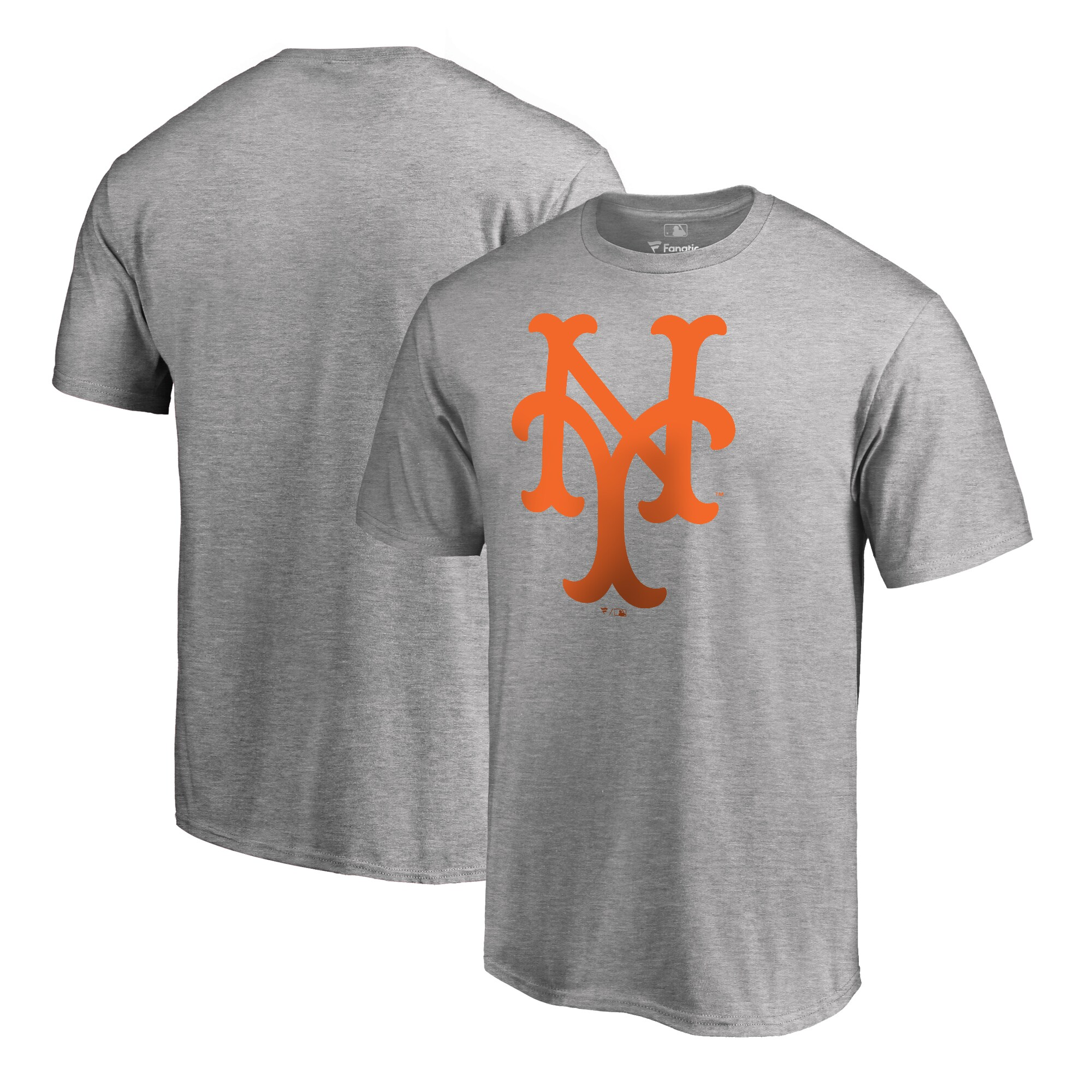 New York Mets Fanatics Branded Big & Tall Cooperstown Collection Huntington T-Shirt - Ash