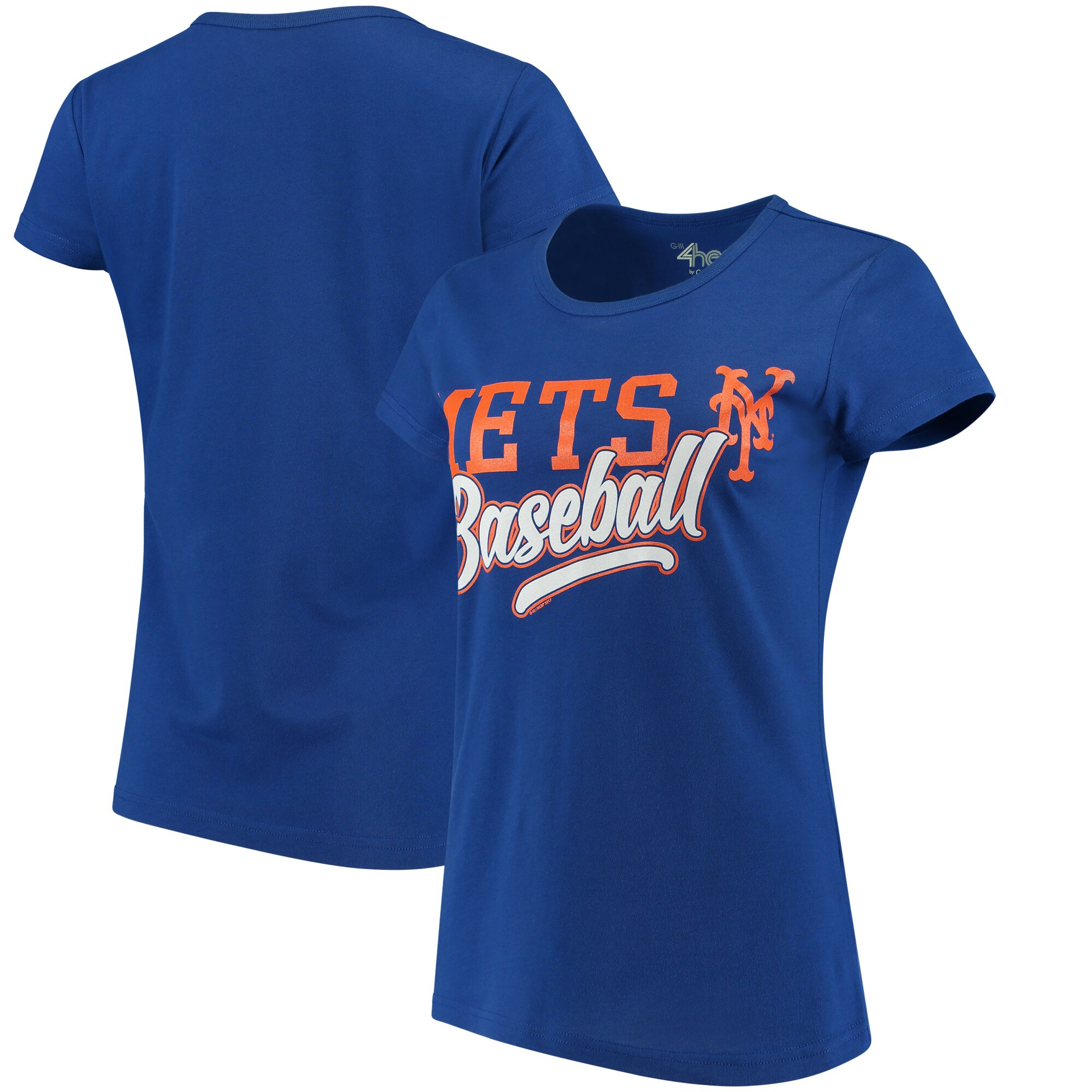 New York Mets G-III 4Her by Carl Banks Women's Endzone Fashion T-Shirt - Royal