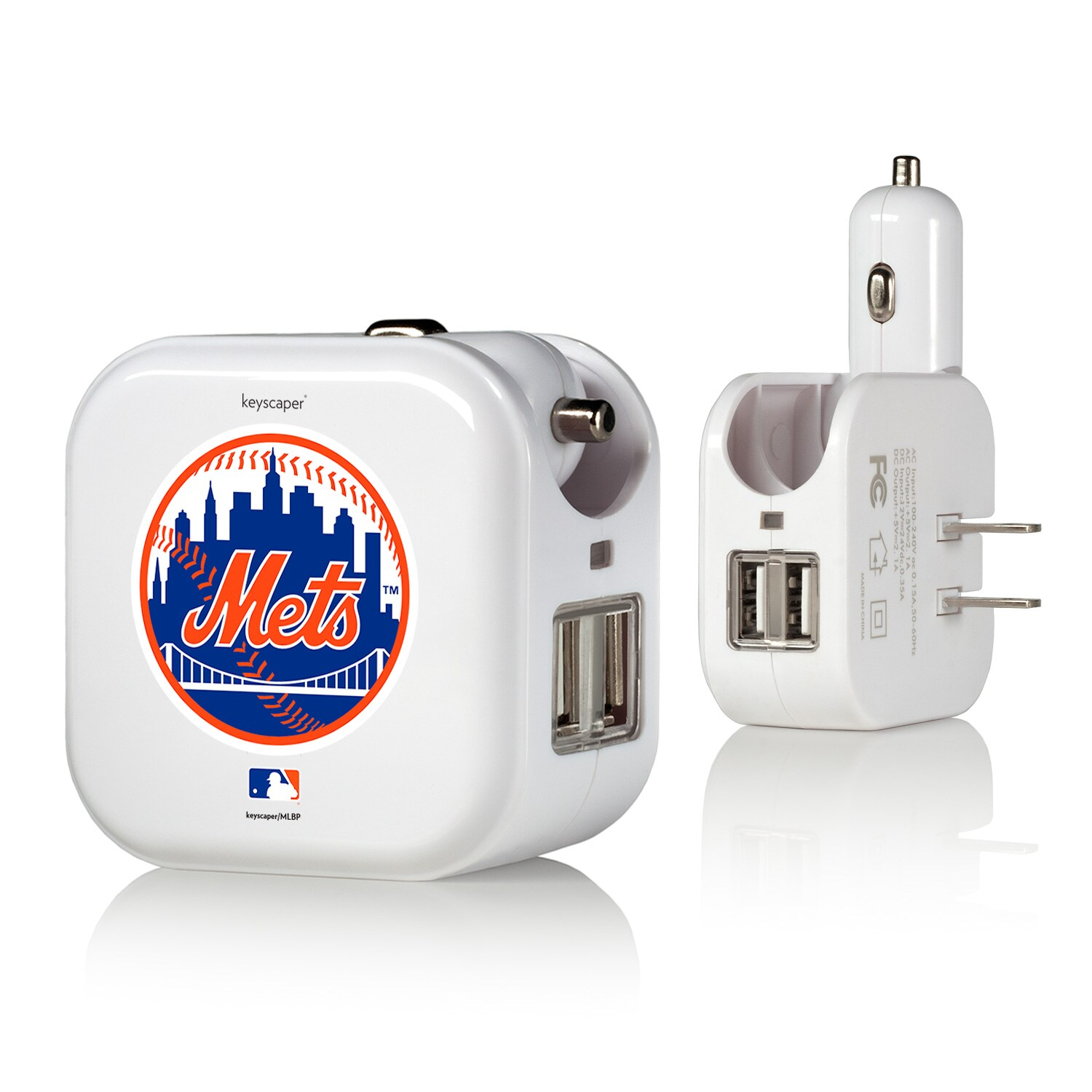 New York Mets 2-In-1 USB Charger