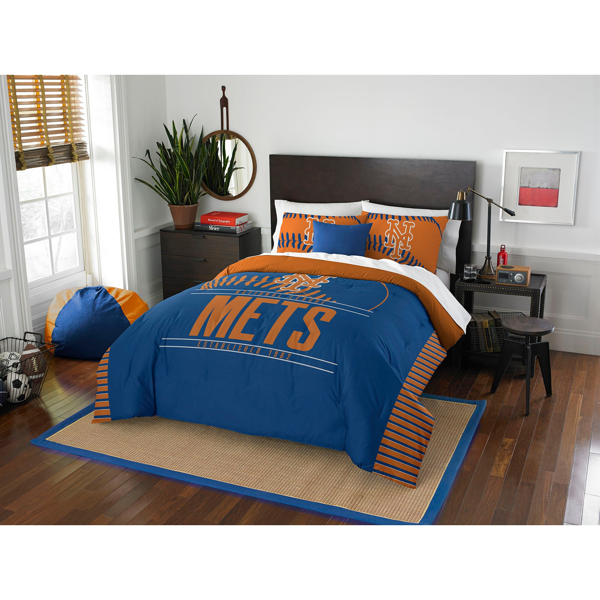 New York Mets The Northwest Company Grand Slam Full/Queen Comforter Set