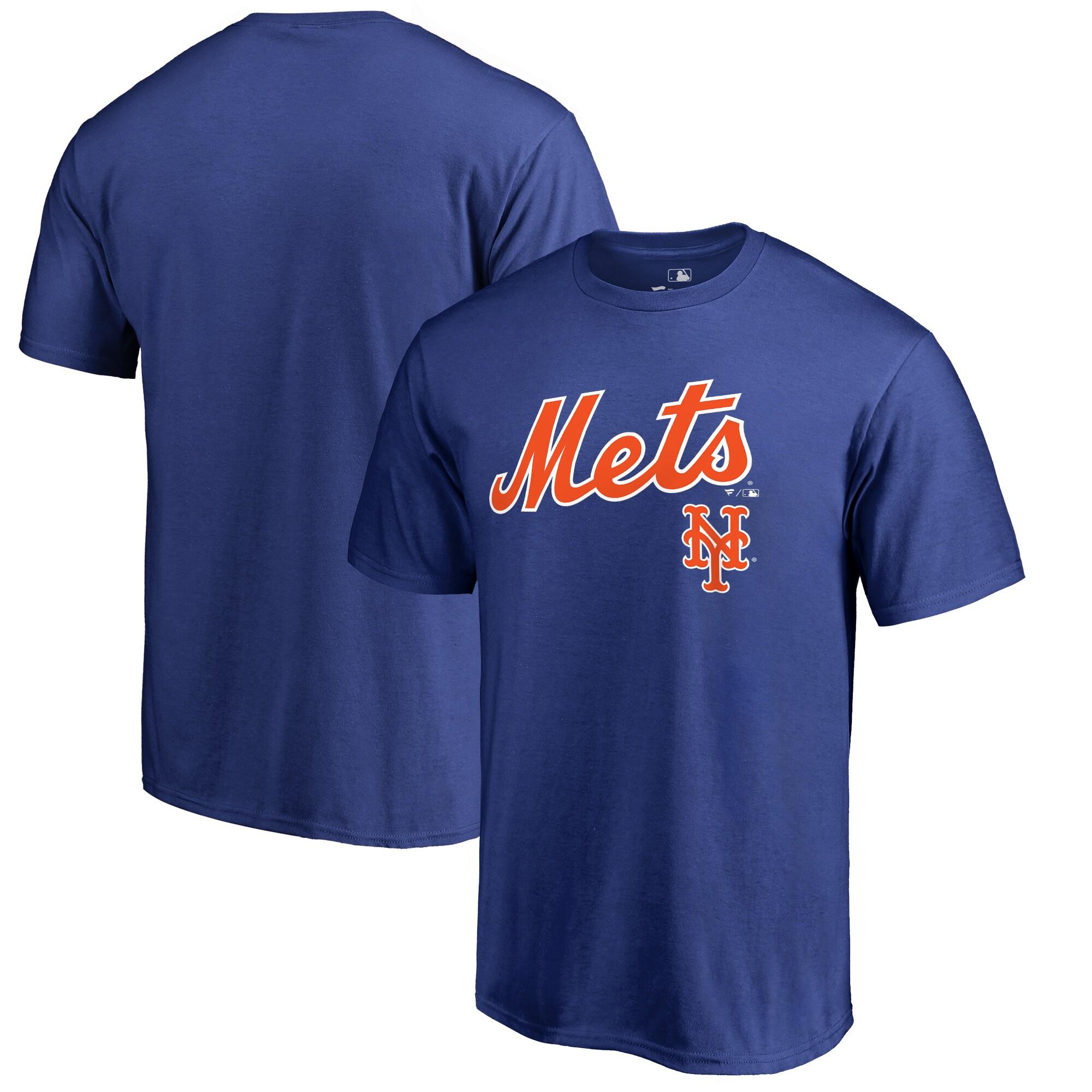 New York Mets Fanatics Branded Big & Tall Team Lockup T-Shirt - Blue