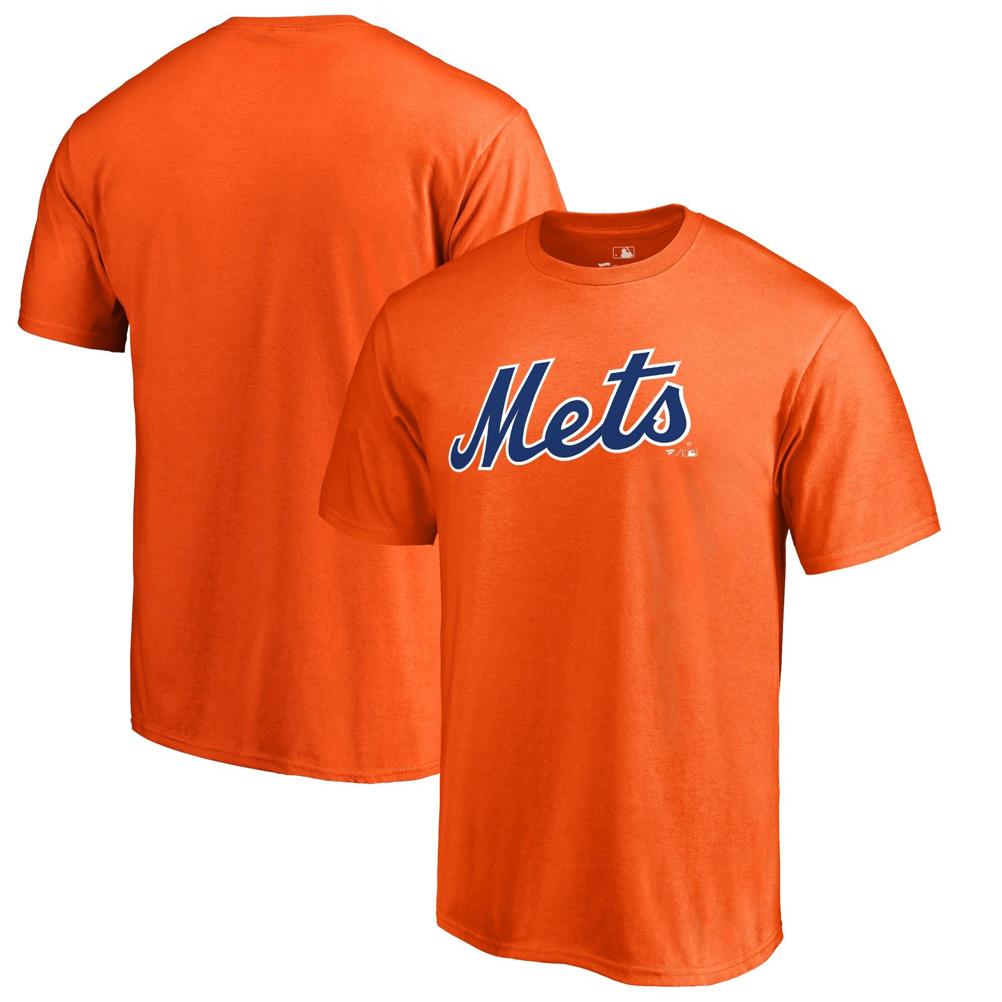 New York Mets Fanatics Branded Big & Tall Team Wordmark T-Shirt - Orange
