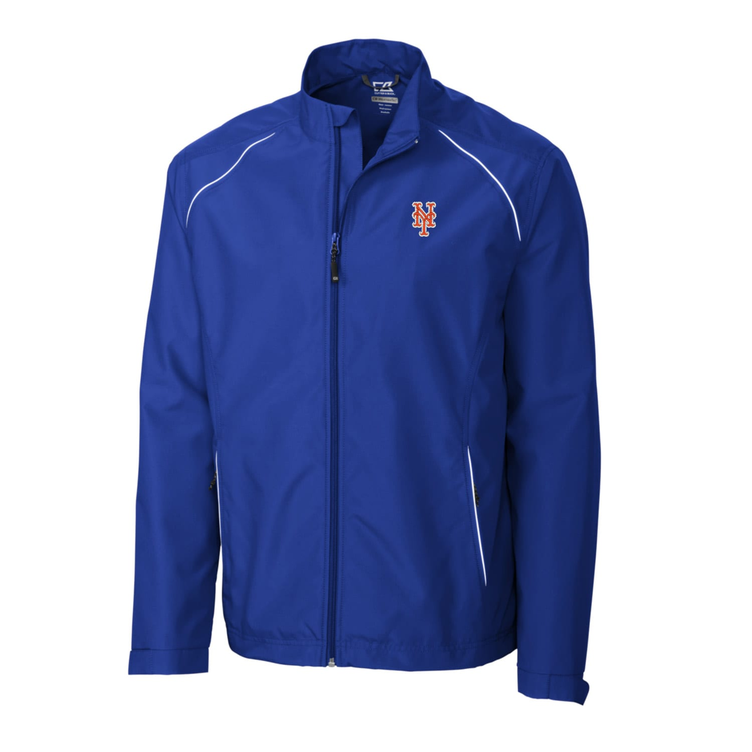 New York Mets Cutter & Buck Big & Tall WeatherTec Beacon Full Zip Jacket - Royal