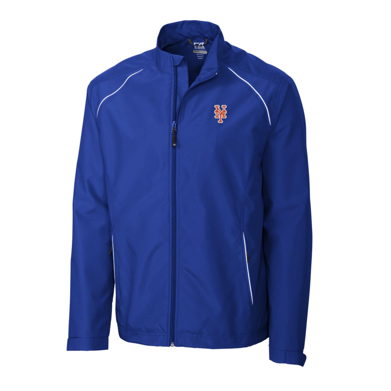 New York Mets Cutter & Buck Big & Tall WeatherTec Beacon Full Zip Jacket - Royal