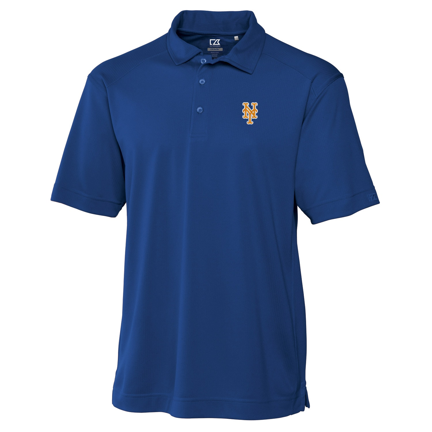 New York Mets Cutter & Buck Big & Tall DryTec Genre Polo - Royal