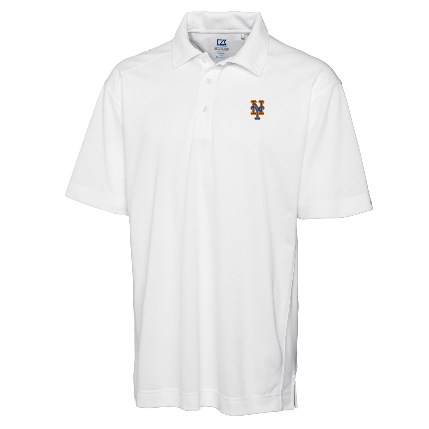 New York Mets Cutter & Buck Big & Tall DryTec Genre Polo - White