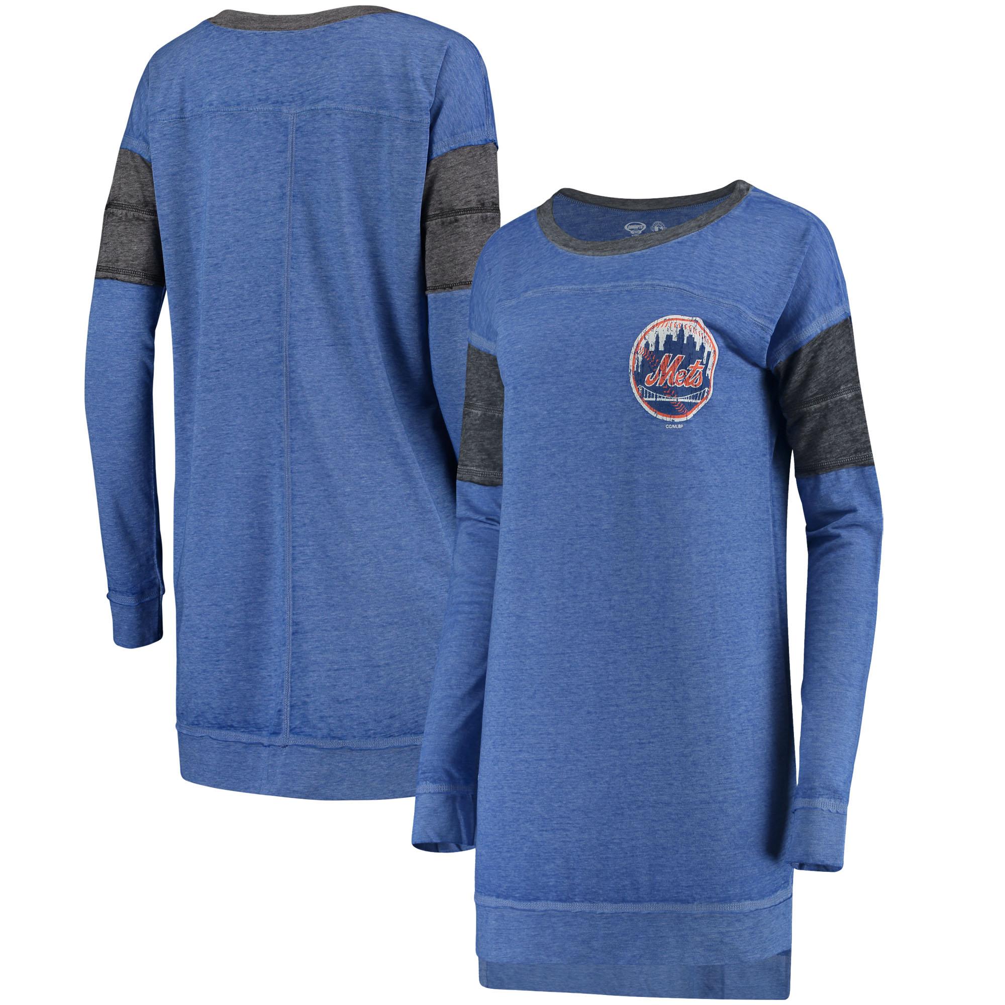 New York Mets Concepts Sport Women's Touchstone Nightshirt - Royal