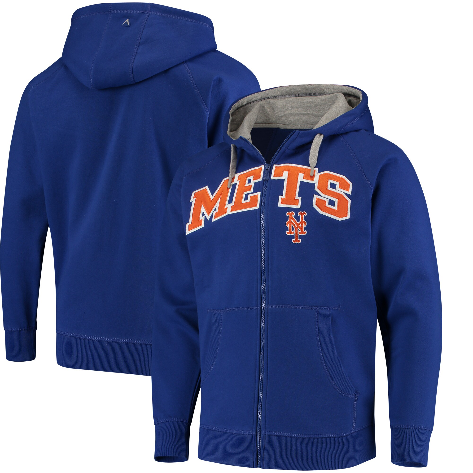 New York Mets Antigua Team Victory Full-Zip Hoodie - Royal