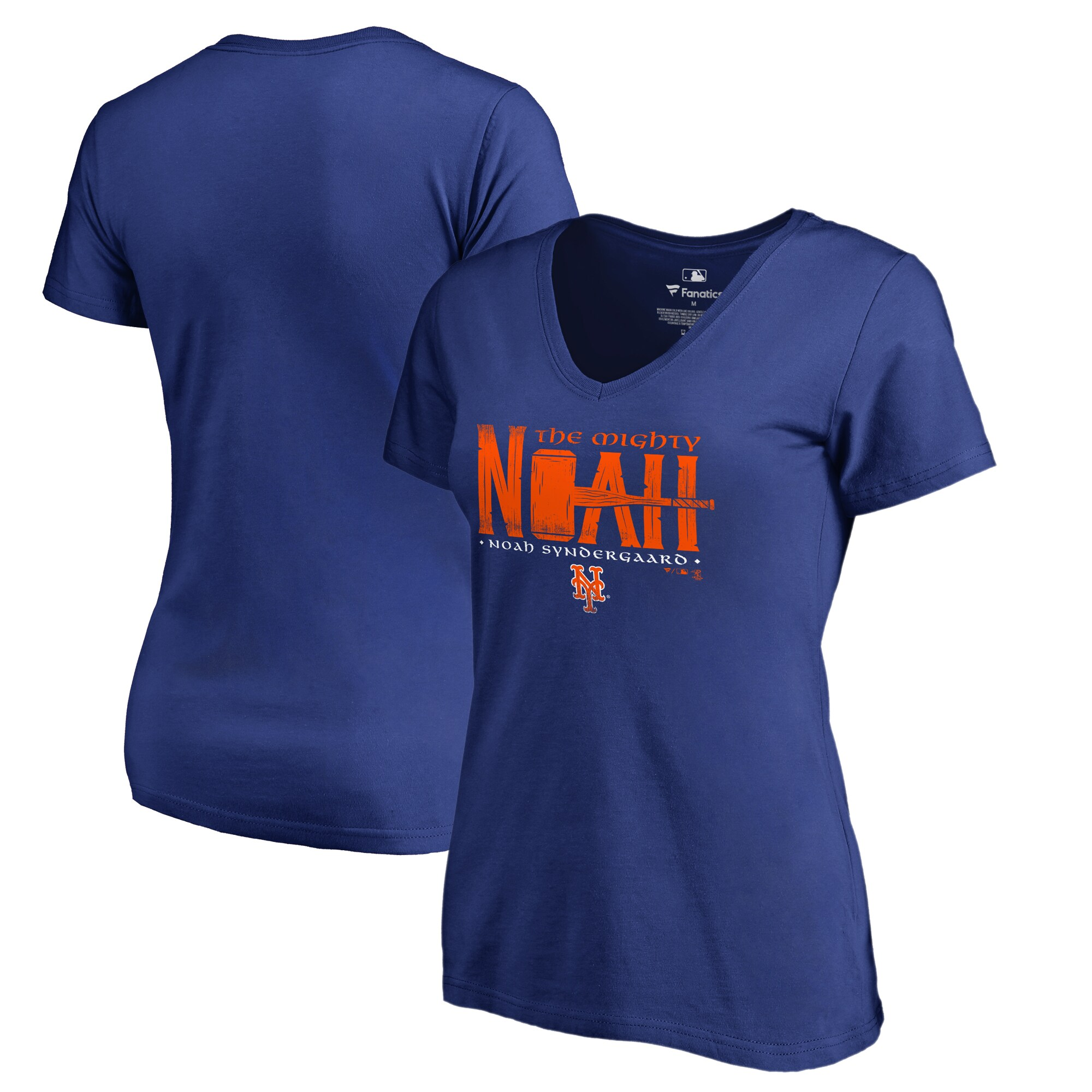 Noah Syndergaard New York Mets Fanatics Branded Women's Player Hometown Collection V-Neck T-Shirt - Royal