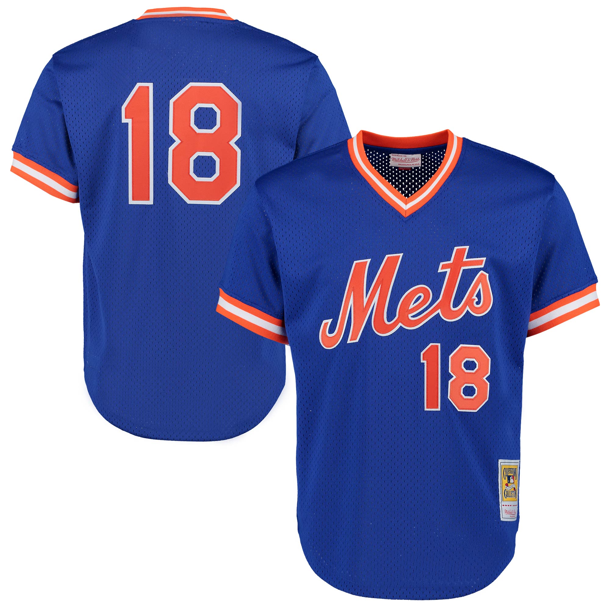 Darryl Strawberry New York Mets Mitchell & Ness Cooperstown Mesh Batting Practice Jersey - Royal