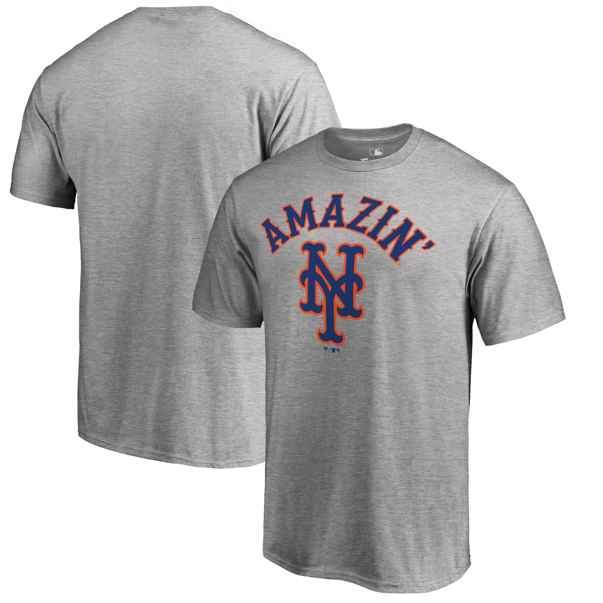 New York Mets Amazin Hometown T-Shirt - Ash