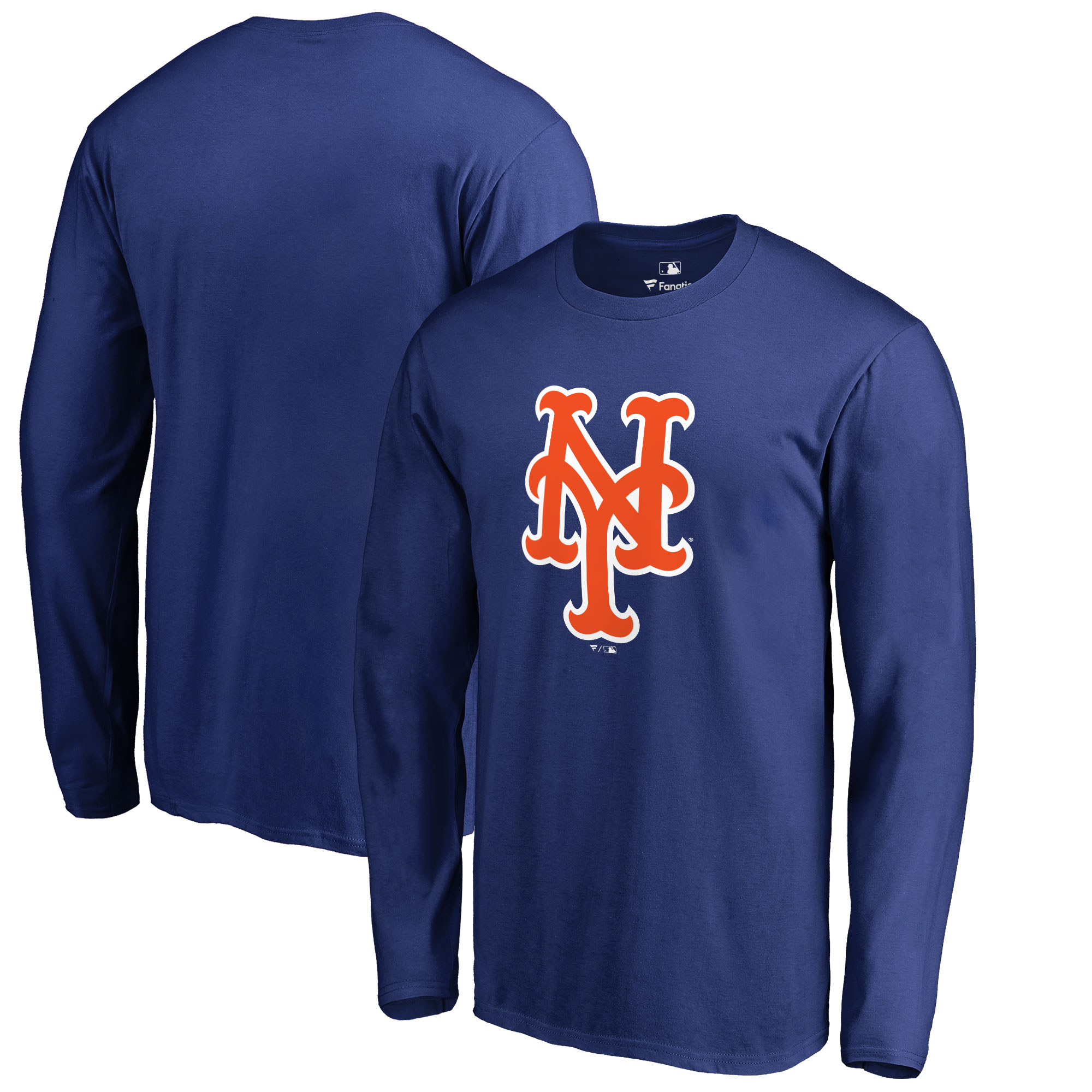 New York Mets Big & Tall Primary Team Logo Long Sleeve T-Shirt - Royal