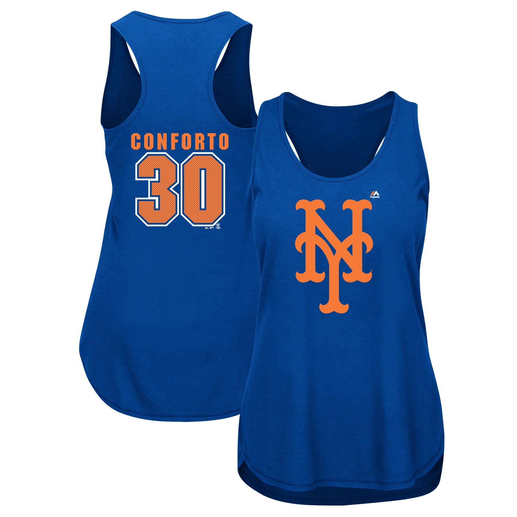 Michael Conforto New York Mets Majestic Women's Men of October Player Tank Top - Royal