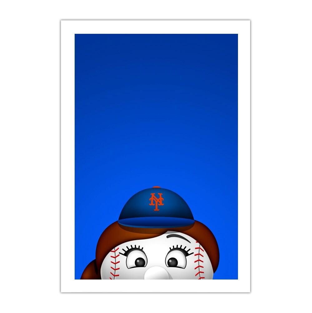 "New York Mets Mascot 14"" x 20"" Minimalist Art Giclee"