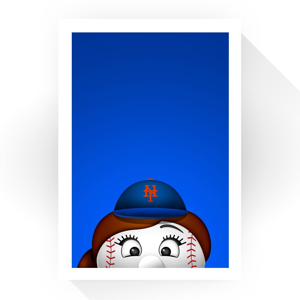 "New York Mets 24"" x 32"" Minimalist Art Giclee"