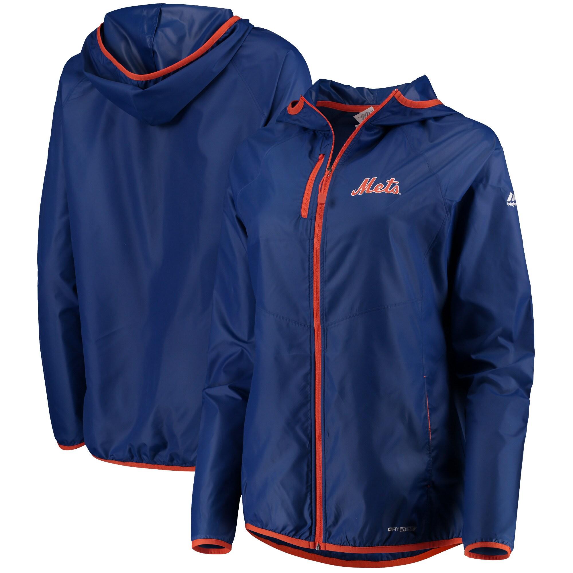 New York Mets Majestic Women's Absolute Dominance Full-Zip Jacket - Royal