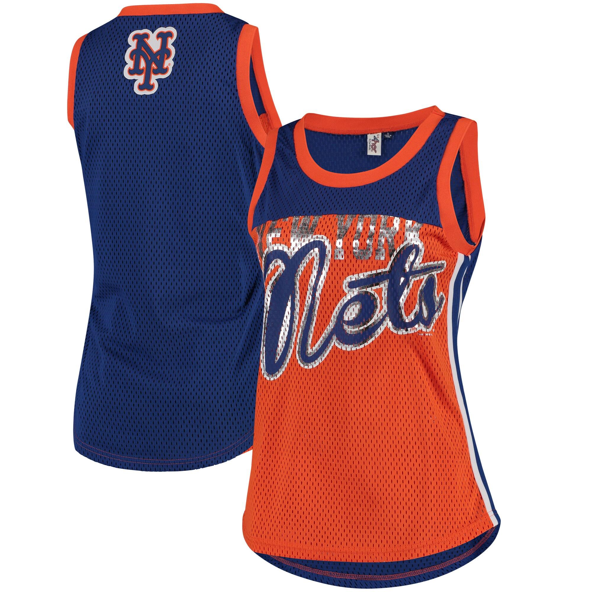 New York Mets G-III 4Her by Carl Banks Women's Championship Tank Top - Orange/Navy