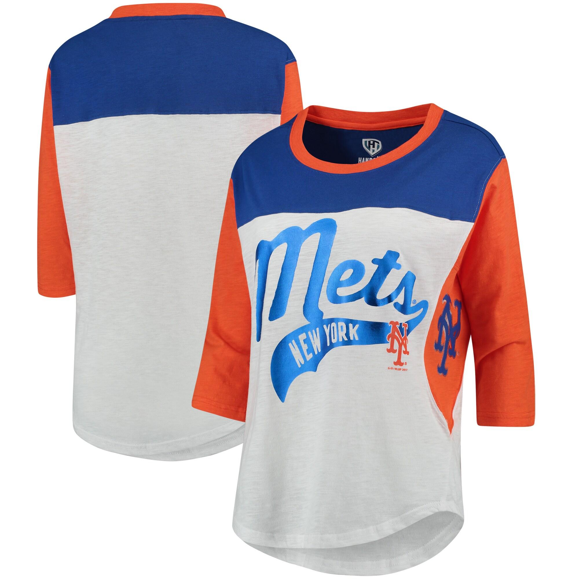 New York Mets Hands High Women's Season's Pass 3/4 Sleeve T-Shirt - White