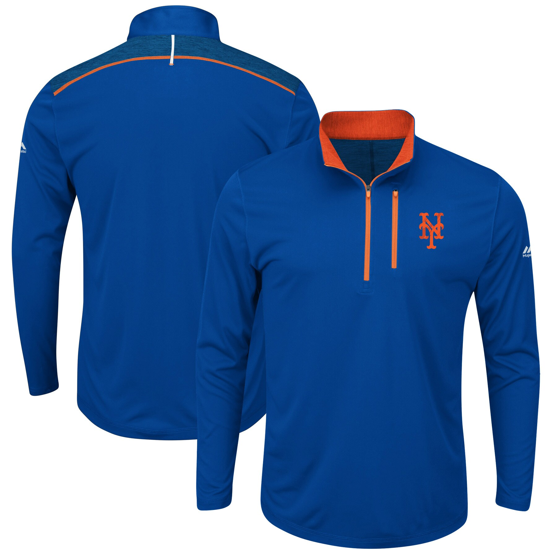 New York Mets Majestic Big & Tall 643 Half-Zip Pullover Jacket - Royal