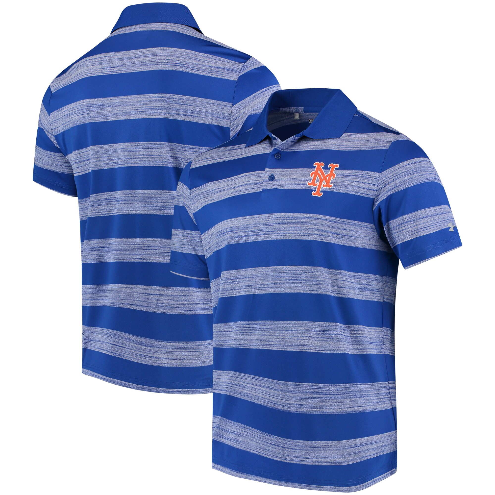 New York Mets Under Armour Skyball Tonal Stripe Polo - Royal