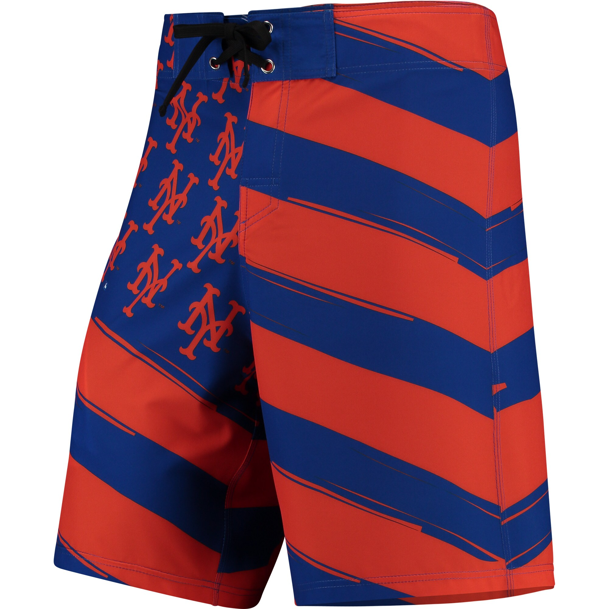 New York Mets Diagonal Flag Boardshorts - Royal/Orange
