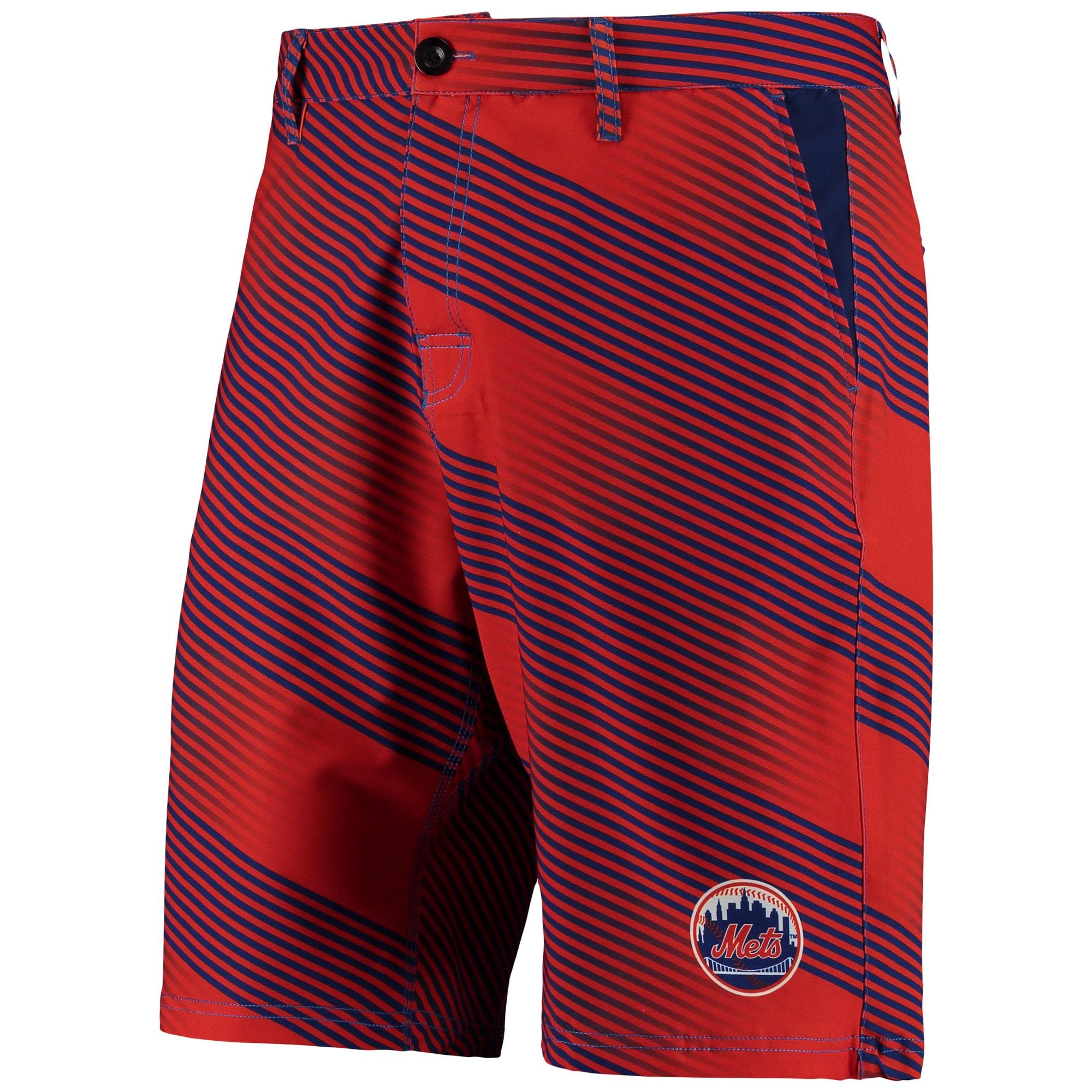 New York Mets Diagonal Stripe Walking Shorts - Orange/Royal