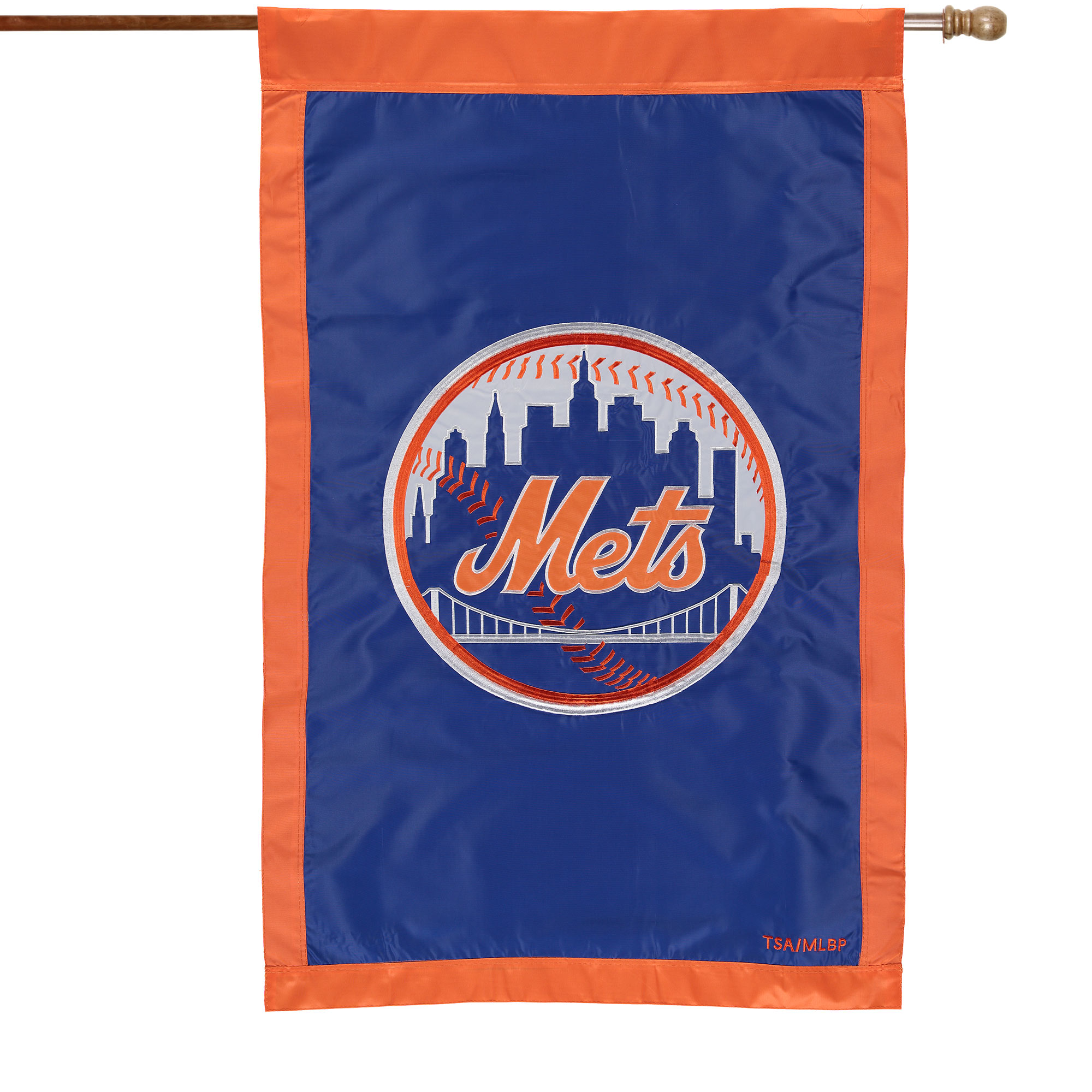 "New York Mets 28"" x 44"" Applique Double-Sided House Flag"