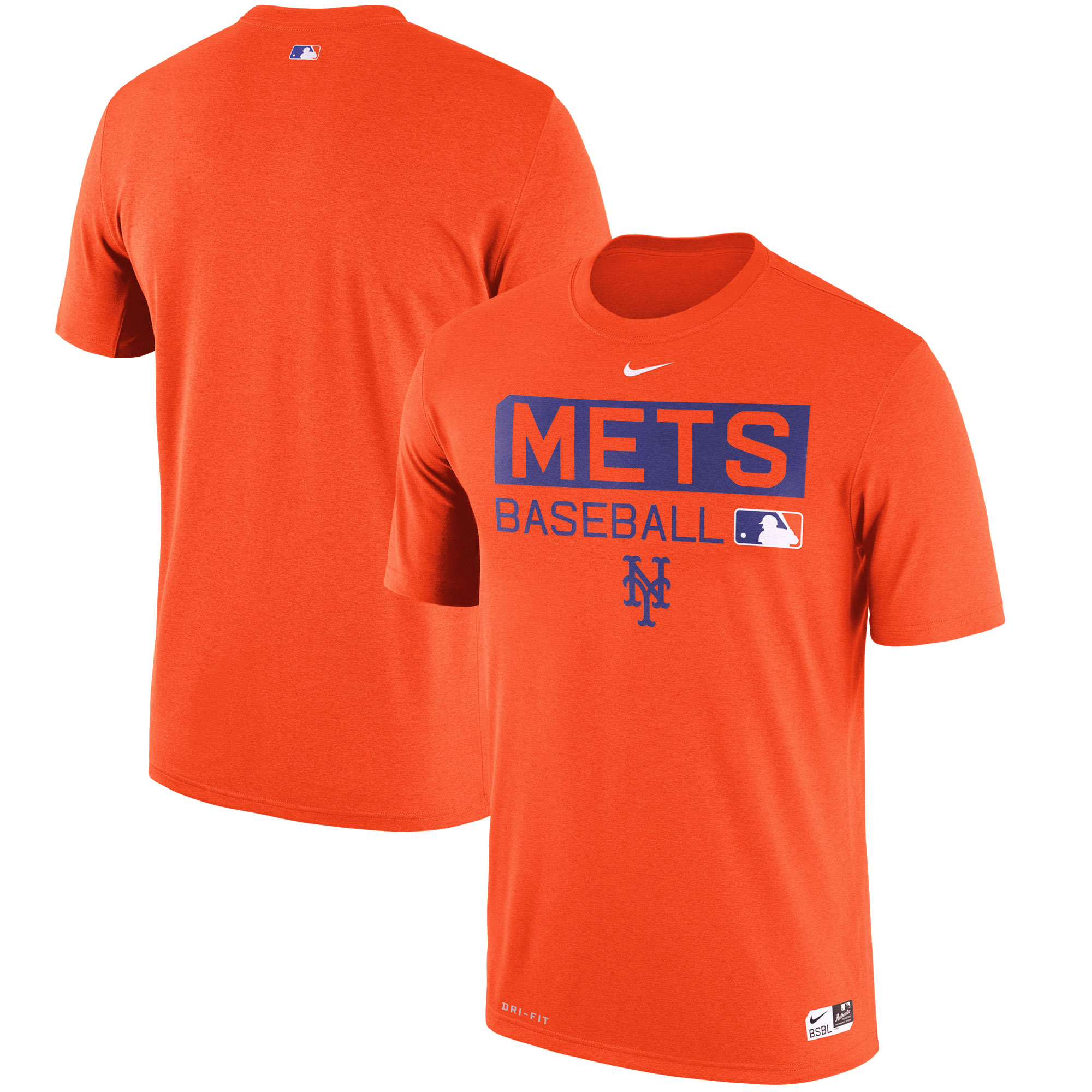 New York Mets Nike Authentic Collection Legend Team Issue Performance T-Shirt - Orange