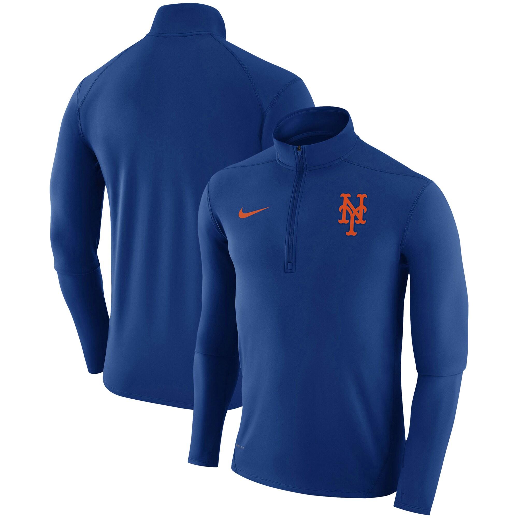 New York Mets Nike Element Half-Zip Performance Top - Royal