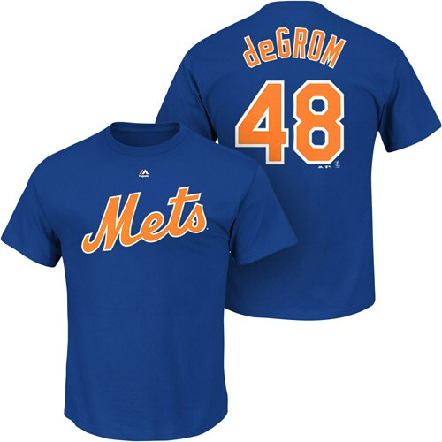 Jacob deGrom New York Mets Majestic Big & Tall Official Player T-Shirt - Royal