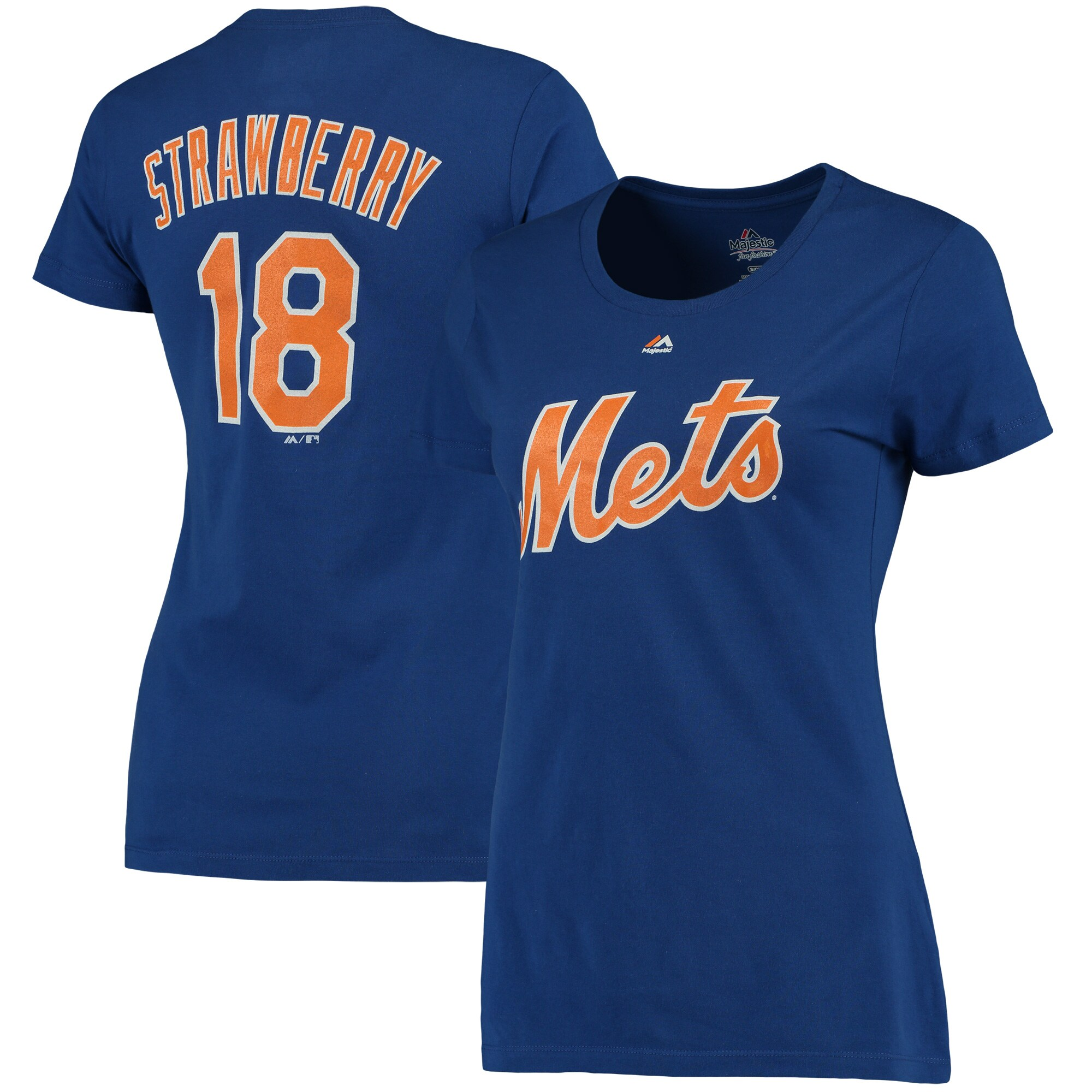 Darryl Strawberry New York Mets Majestic Women's Cooperstown Name and Number T-Shirt - Royal