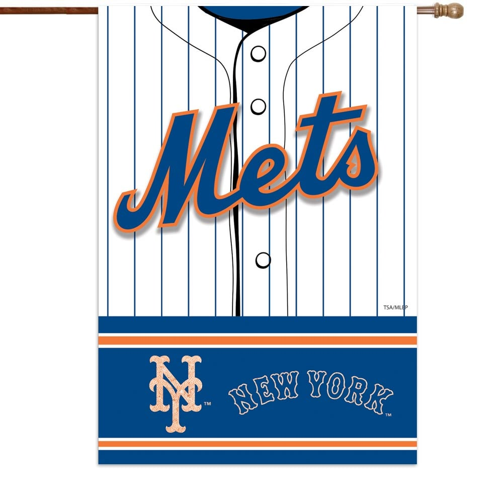 "New York Mets 29"" x 43"" Double-Sided Jersey Foil House Flag"