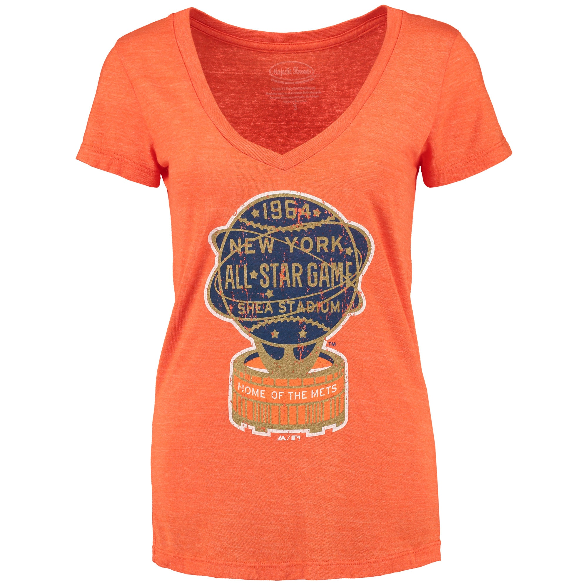 New York Mets Women's Coop All-Star Tri-Blend T-Shirt - Orange