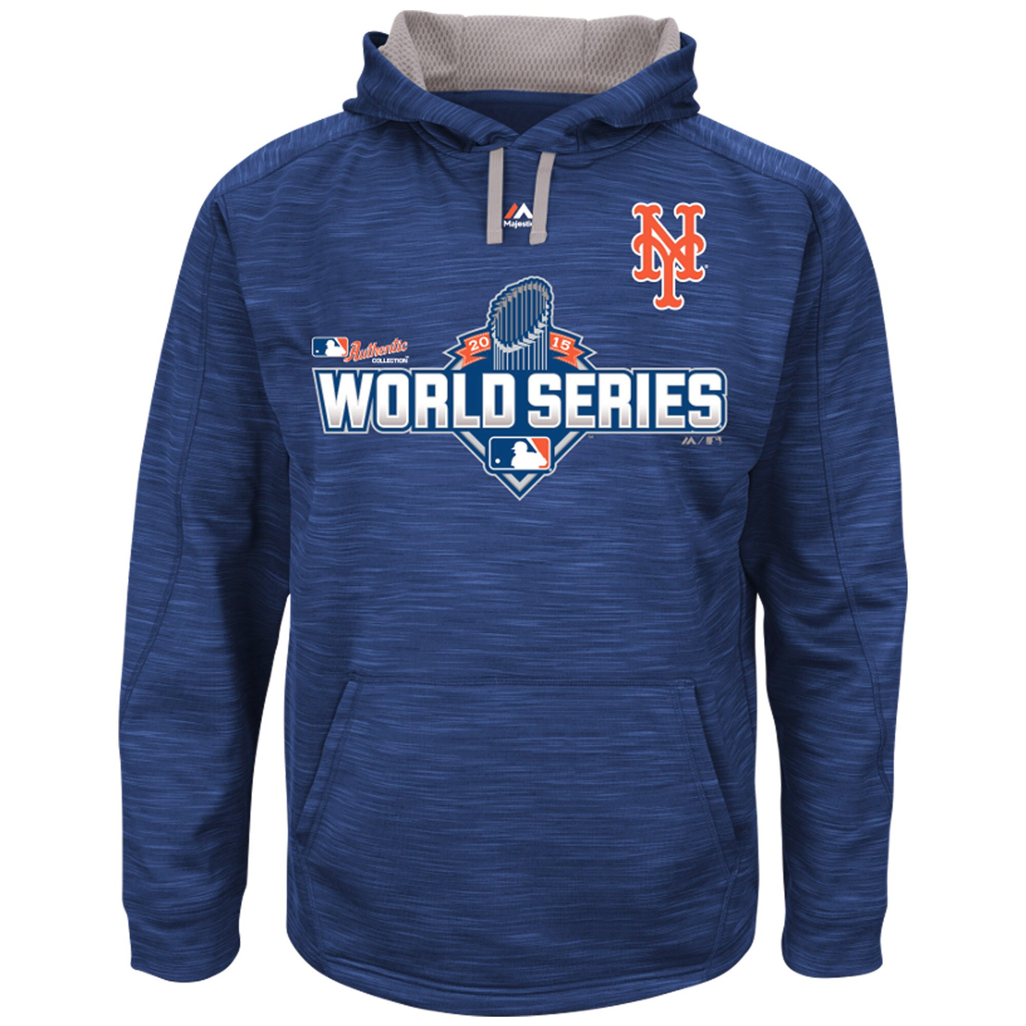 New York Mets Majestic Authentic Collection World Series Participant Therma Base Hoodie - Royal