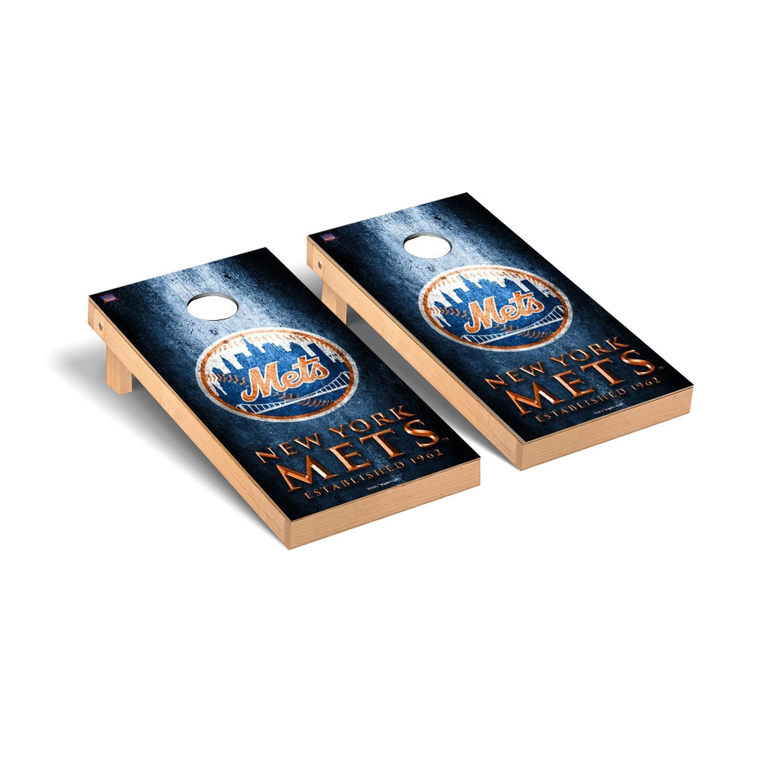 New York Mets 2' x 4' Metal Cornhole Board Tailgate Toss Set