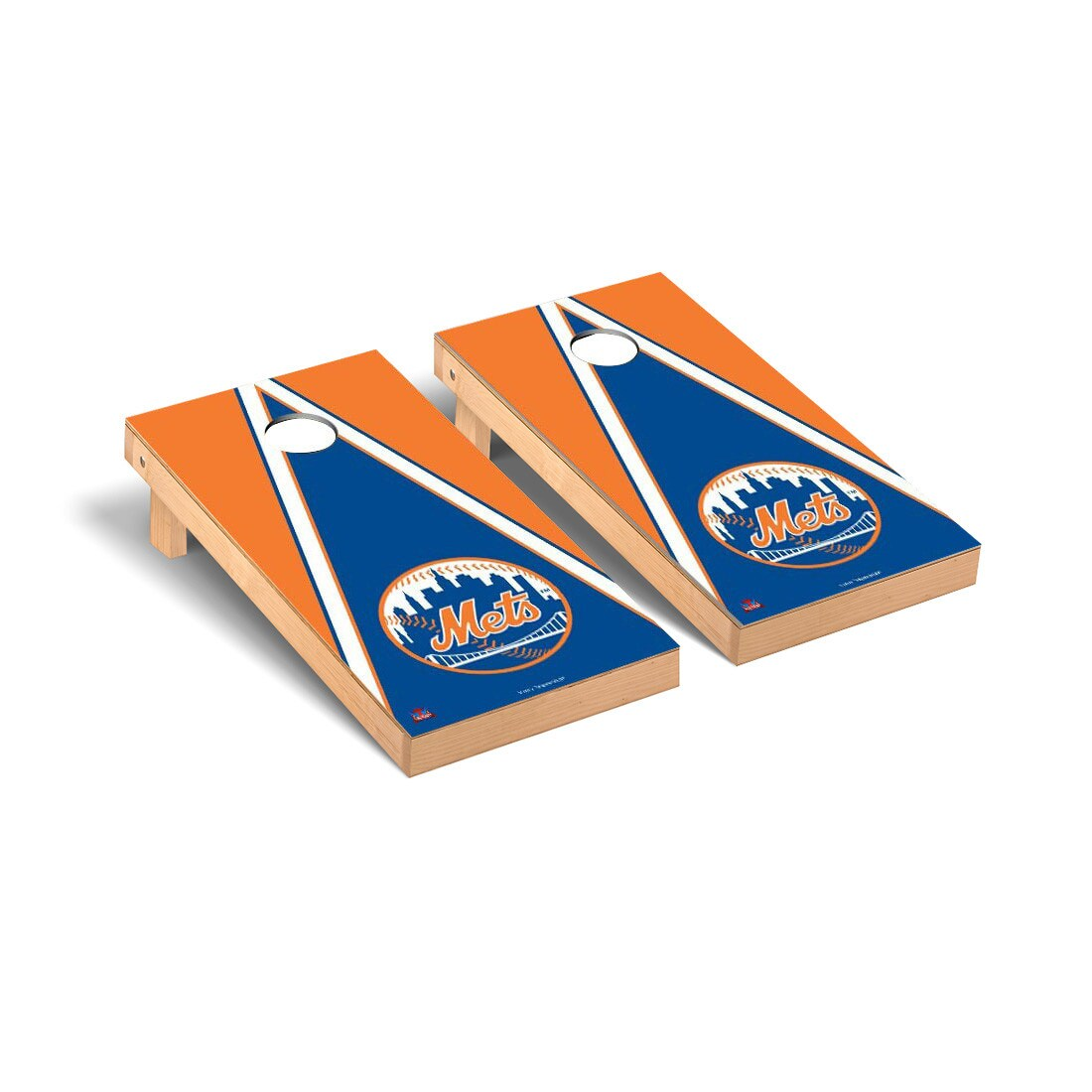 New York Mets 2' x 4' Triangle Cornhole Board Tailgate Toss Set