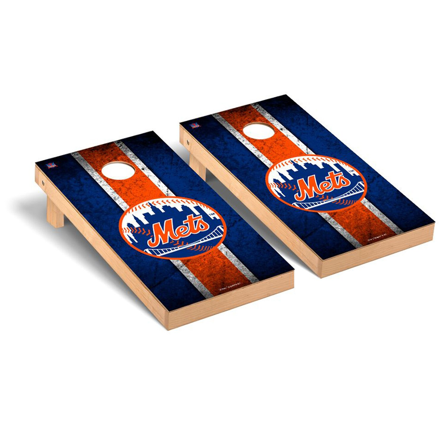 New York Mets 2' x 4' Vintage Cornhole Board Tailgate Toss Set