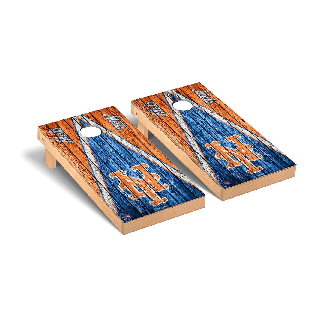 New York Mets 2' x 4' Weathered Cornhole Board Tailgate Toss Set