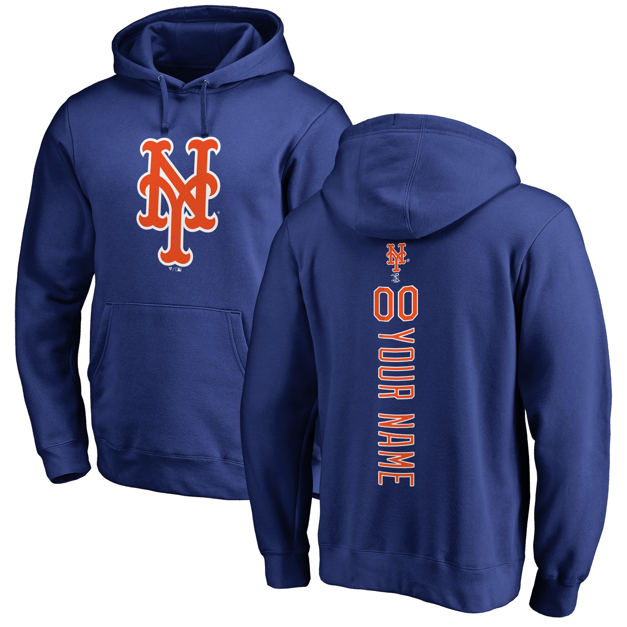 New York Mets Fanatics Branded Personalized Playmaker Pullover Hoodie - Royal