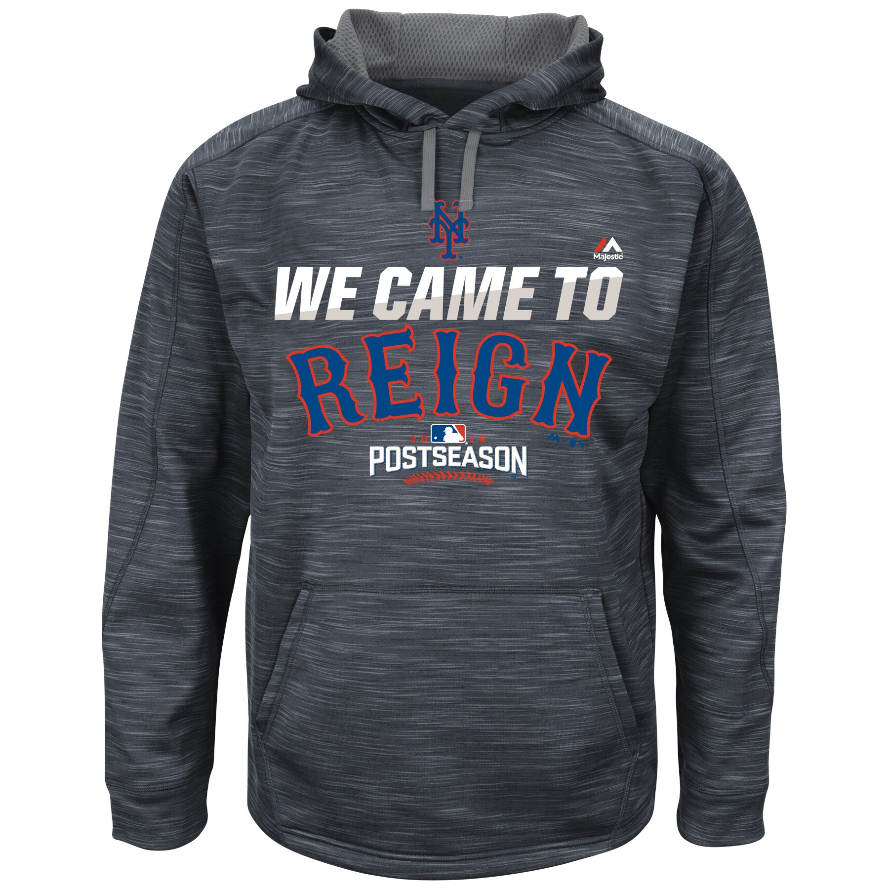 New York Mets Majestic 2016 Postseason Authentic Collection Came To Reign Streak Hoodie - Graphite