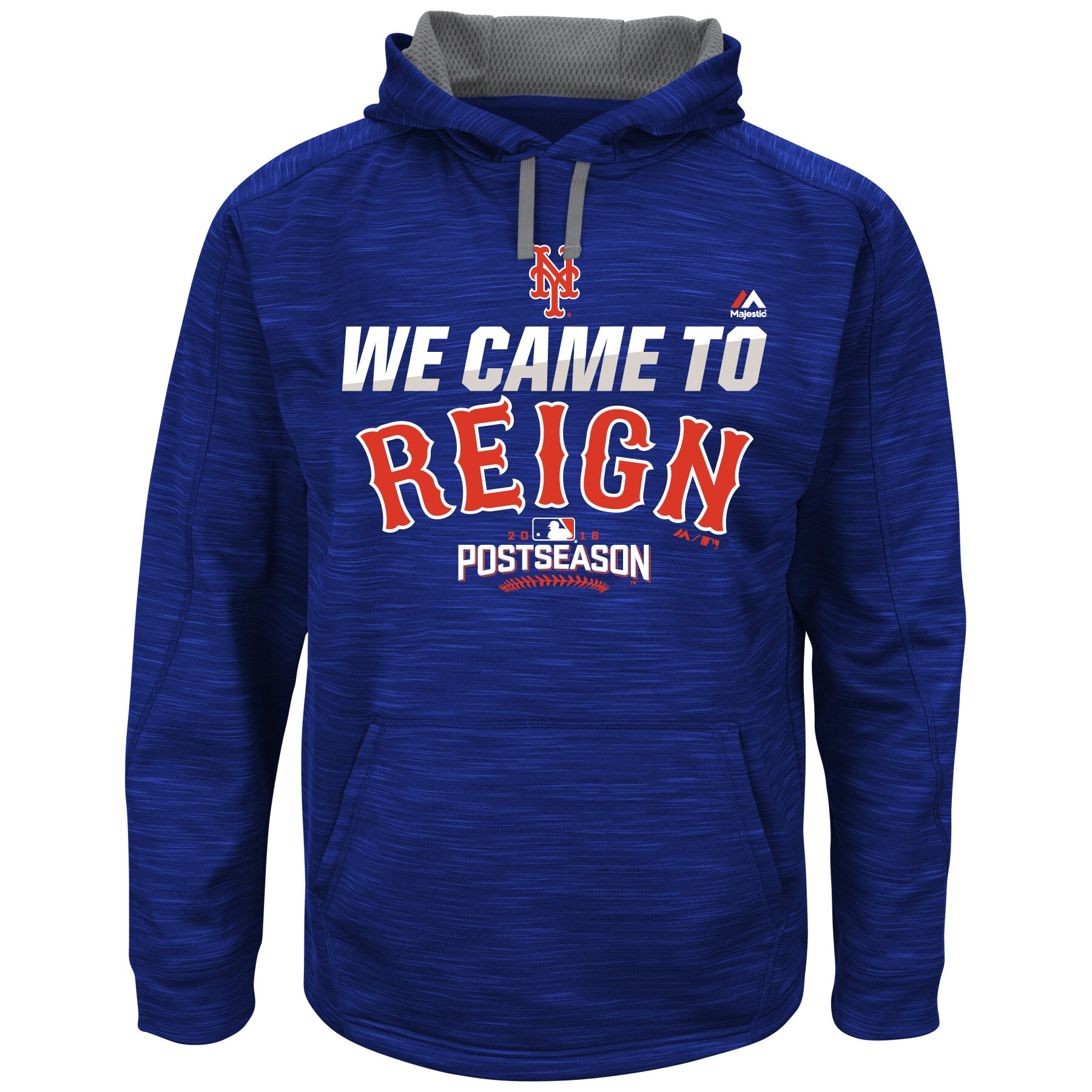 New York Mets Majestic 2016 Postseason Authentic Collection Came To Reign Streak Hoodie - Royal