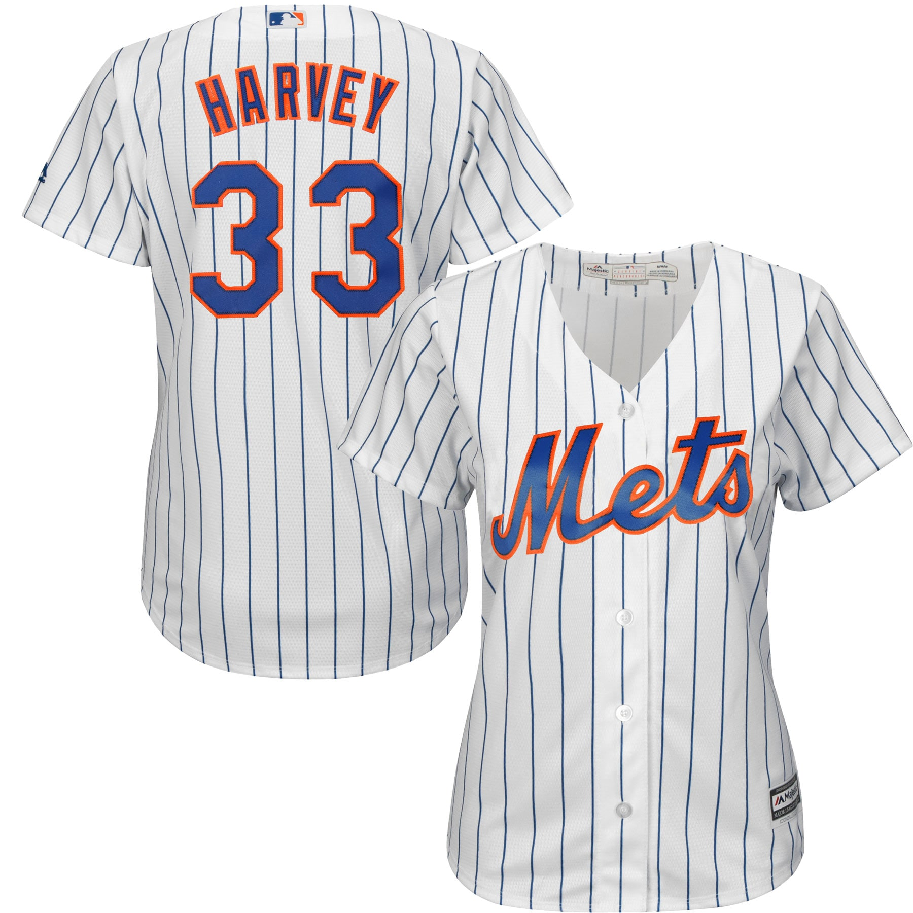 Matt Harvey New York Mets Majestic Women's Cool Base Player Jersey - White