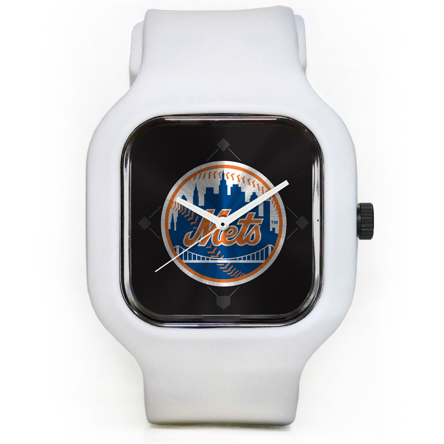 New York Mets Modify Watches Unisex Silicone Watch - White