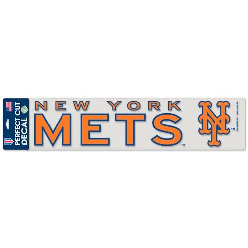 "New York Mets WinCraft 4"" x 17"" Die Cut Decal - Orange"