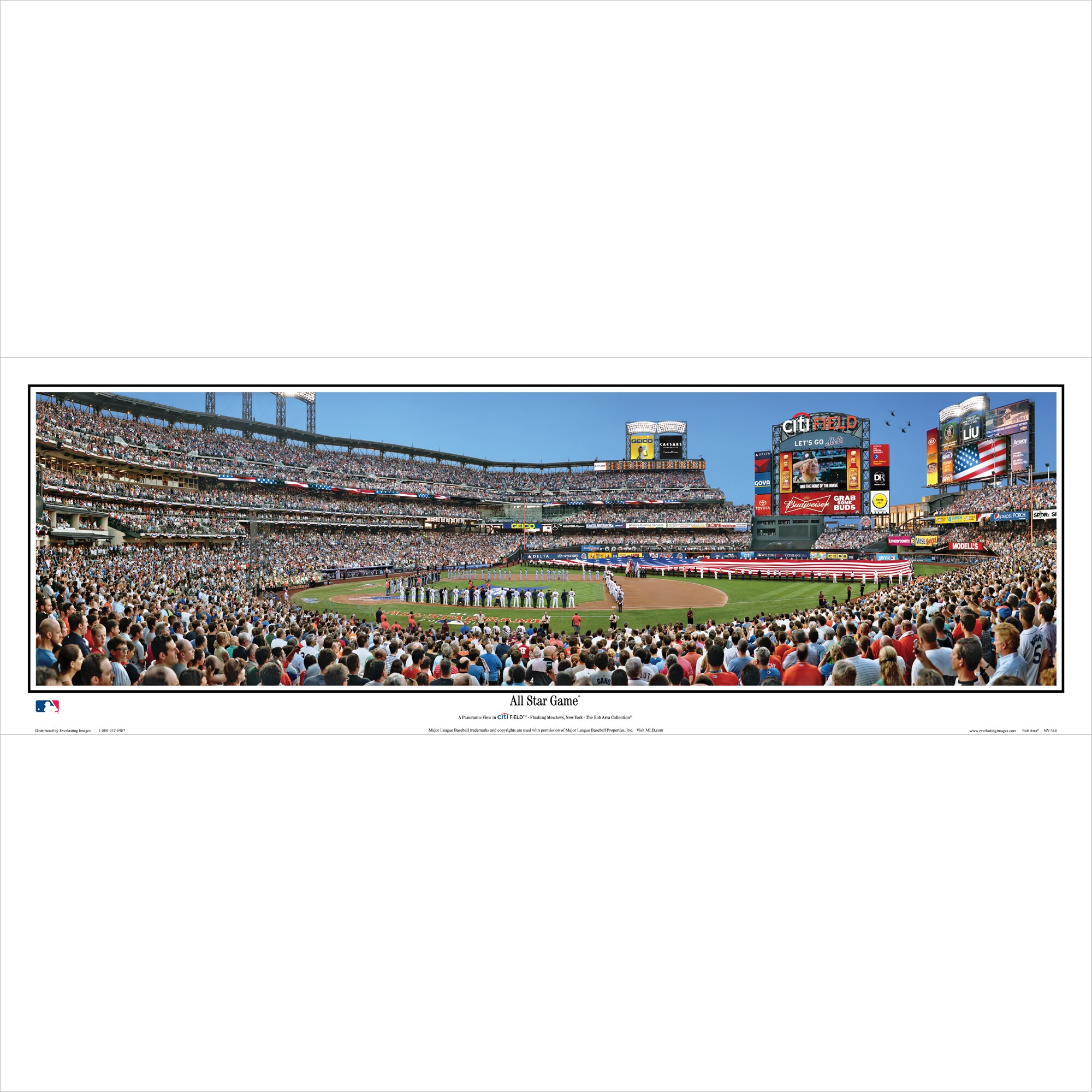 "New York Mets 39"" x 13.5"" All-Star Game Standard Black Framed Panoramic"