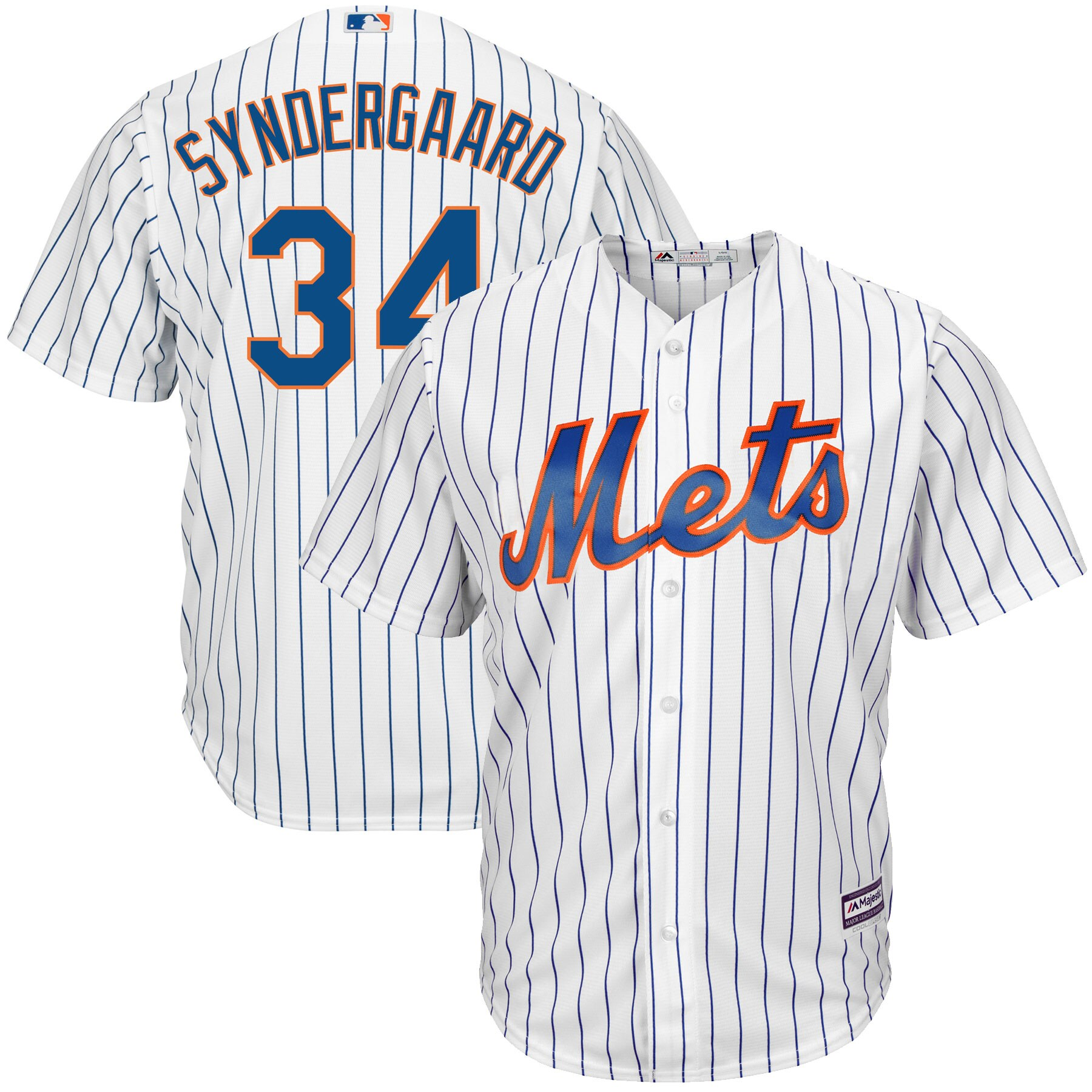 Noah Syndergaard New York Mets Majestic Home Big & Tall Cool Base Player Jersey - White/Royal