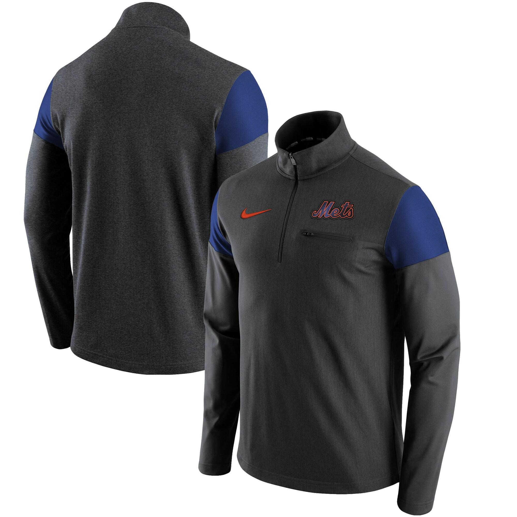 New York Mets Nike Elite Half-Zip Pullover Jacket - Gray
